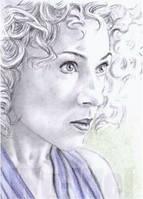 Alex Kingston mini-portrait