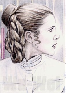 Carrie Fisher mini-portrait by whu-wei