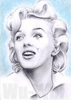 Marilyn Monroe mini-portrait by whu-wei