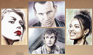 Four new Dr Who sketch cards