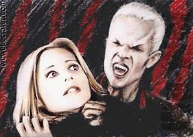 Buffy+Spike sketchcard by whu-wei