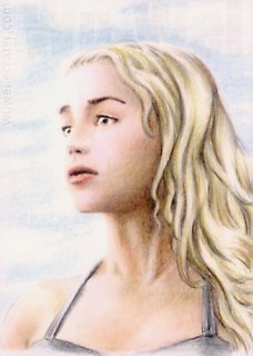 Emilia Clarke mini-portrait by whu-wei