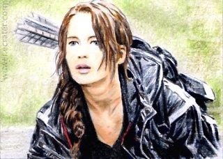 Jennifer Lawrence mini-portrait by whu-wei