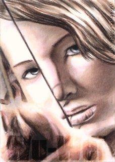 Jennifer Lawrence mini-portrait 2 by whu-wei