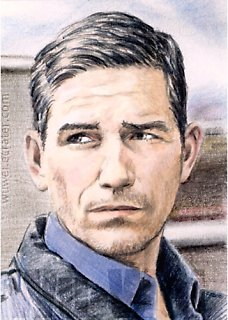 Jim Caviezel mini-portrait by whu-wei