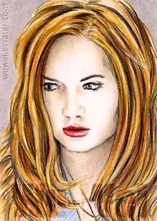 Karen Gillan mini-portrait by whu-wei