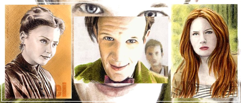 Dr Who mini-portraits by whu-wei