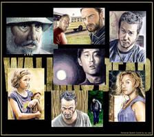 Walking Dead sketchcards by whu-wei