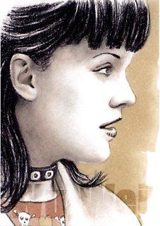 Pauley Perrette mini-portrait by whu-wei