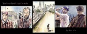 Walking Dead sketchcards
