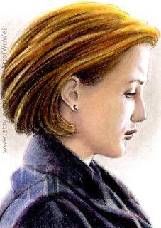Gillian Anderson miniature