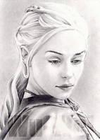 Emilia Clarke miniature by whu-wei