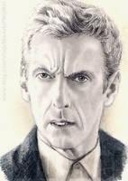 Peter Capaldi miniature by whu-wei