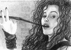 Helena Bonham Carter miniature by whu-wei