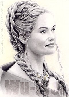 Lena Headey miniature by whu-wei