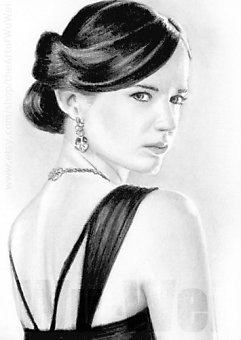 Eva Green miniature by whu-wei