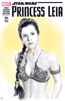 Princess Leia sketch cover by whu-wei