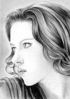 Scarlett Johansson miniature by whu-wei
