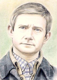 Martin Freeman miniature by whu-wei