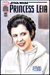 Princess Leia sketch cover