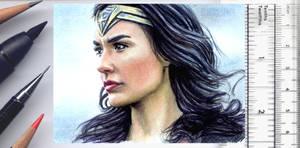 Wonder Woman sketchcard by whu-wei