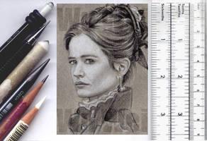 Penny Dreadful sketchcard by whu-wei