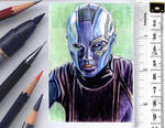 Guardians of the Galaxy sketchcard by whu-wei