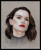 Daisy Ridley portrait by whu-wei