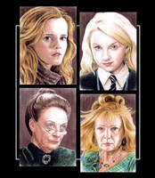 Harry Potter sketchcards by whu-wei