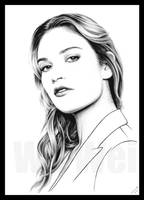 Lily James portrait by whu-wei