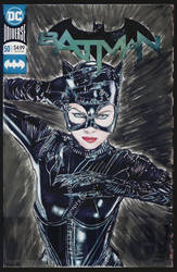 Catwoman sketch cover comic by whu-wei