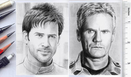 Stargate sketchcards by whu-wei