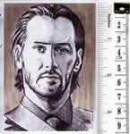 Keanu Reeves sketchcard by whu-wei