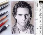 Tom Cruise sketchcard by whu-wei