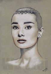 Audrey Hepburn portrait by whu-wei