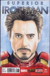 Iron Man sketch cover by whu-wei