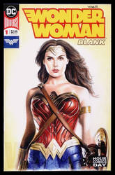 Wonder Woman sketch cover by whu-wei