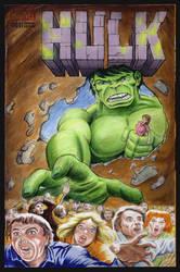 Hulk / Queen sketch cover by whu-wei