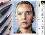 Killing Eve sketchcard by whu-wei