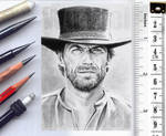 Clint Eastwood sketch card
