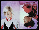 Spider-Man: Into the Spider-Verse sketch cover by whu-wei