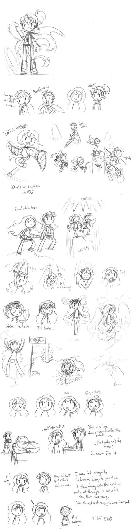 Random Story Sketches by SilviShinyStar