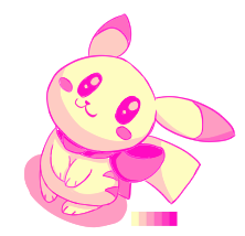 Pink Pikachu by SilviShinyStar