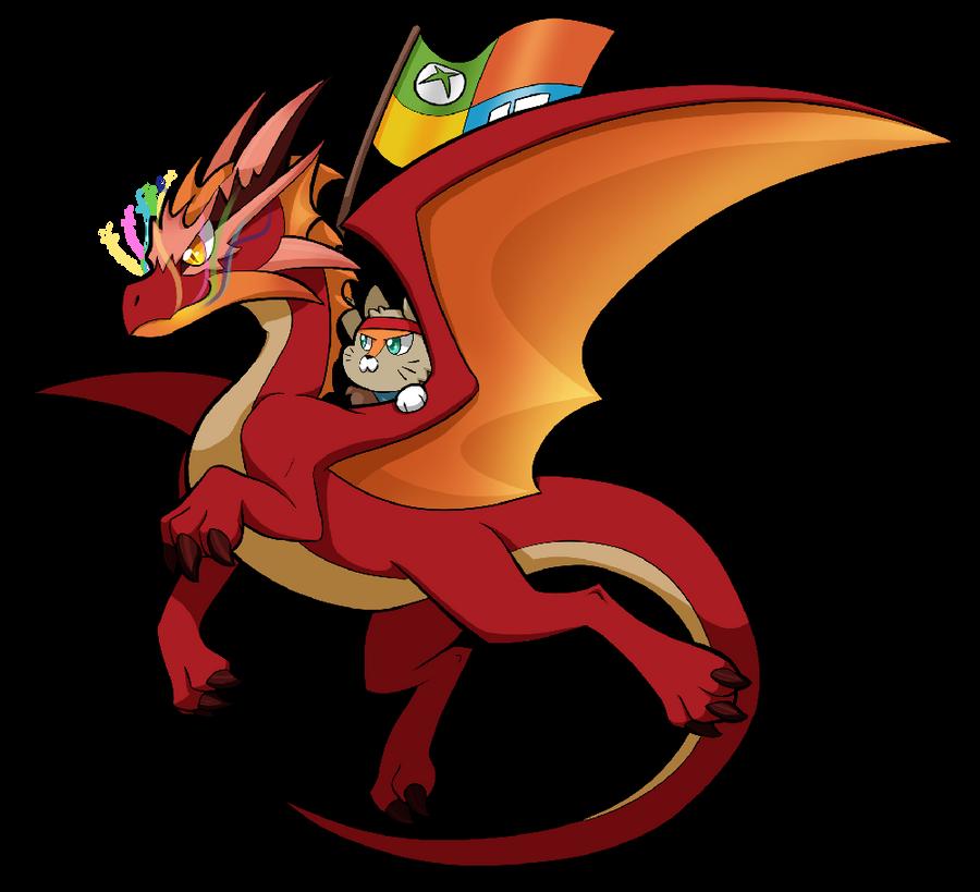 NinjaCat Dragon by SilviShinyStar