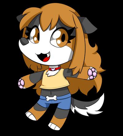 Day 24 - Chibi Doggy Star by SilviShinyStar