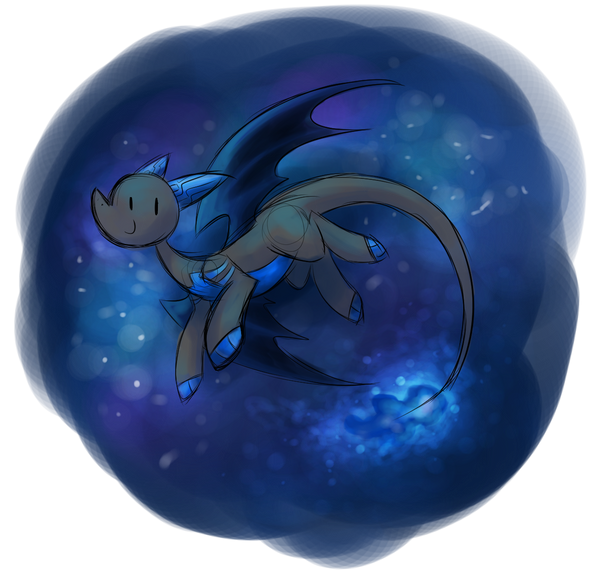 Day 36 - Another dragon in space by SilviShinyStar