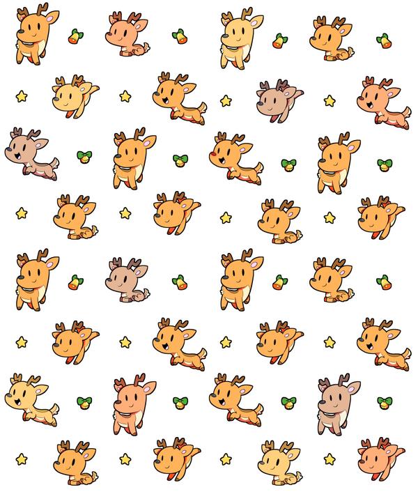 Reindeer Pattern by SilviShinyStar