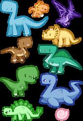 Cute dinos by SilviShinyStar