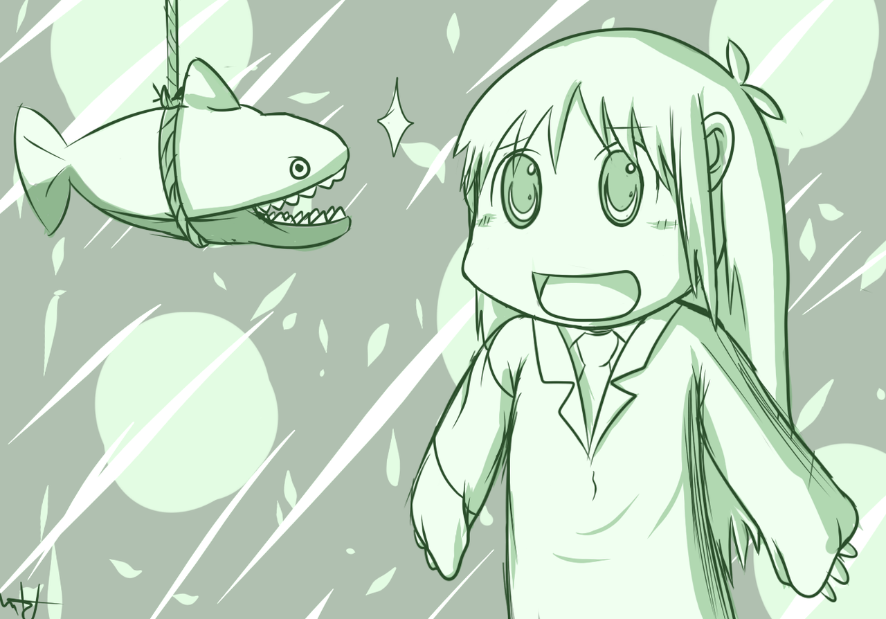 Hakase Loves Sharks! - Nichijou Practice by Brony2you