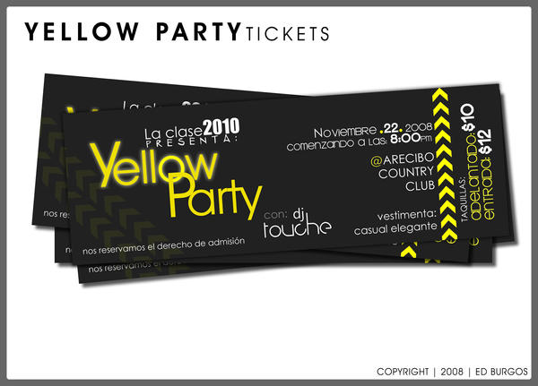 yellow party tickets by hleix on deviantart
